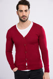 5112126 Bordeaux Button Cardigan