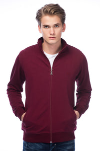 5112093 Bordeaux Zip Sweater