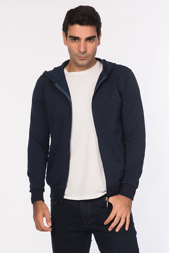 5112102 Indigo Zip Sweater