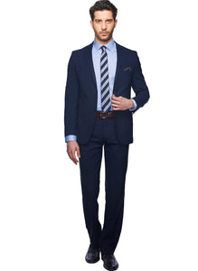 2410165 Plain Navy Slim Fit Suit