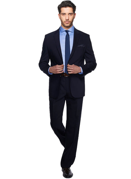 2410164 Plain Navy Regular Fit Suit