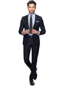 2410032 Black Slim Fit Suit