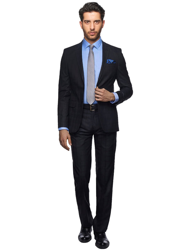 2410057 Check Anthracite Slim Fit Suit