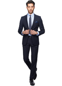 2410104 Check Black Slim Fit Suit