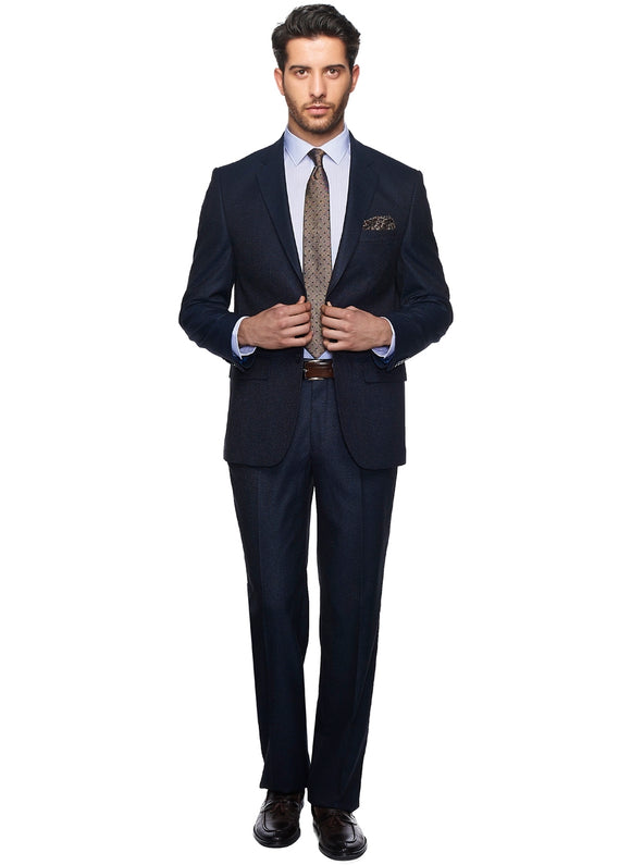 2410137 Patterned Navy Regular Fit Suit