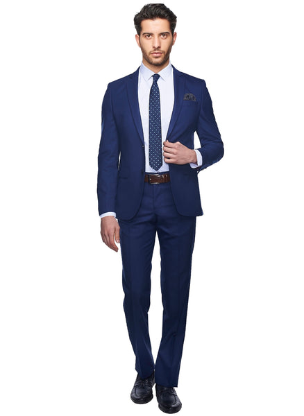 2410168 Plain Navy Slim Fit Suit