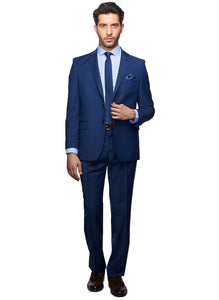 2410064 Check Blue Regular Fit Suit