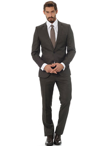 2410002 Brown Slim Fit Suit