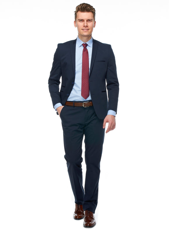 2410176 Plain Navy Slim Fit Suit