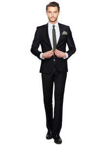 2410117 Black Slim Fit Suit