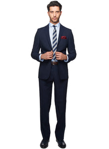 2410073 Check Navy Regular Fit Suit