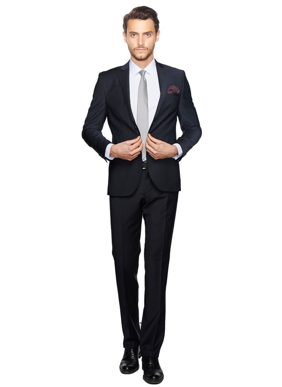 2410088 Check Grey Slim Fit Suit
