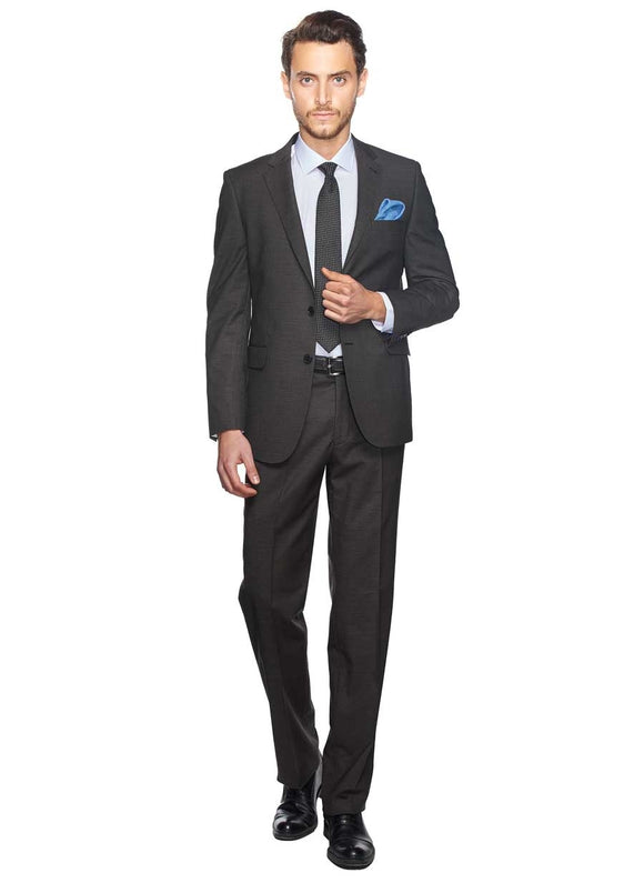 2410066 Check Grey Regular Fit Suit