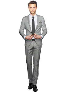 2410105 Check Black Slim Fit Suit