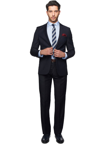 2410162 Plain Navy Slim Fit Suit