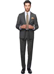 2410131 Patterned Black Regular Fit Suit