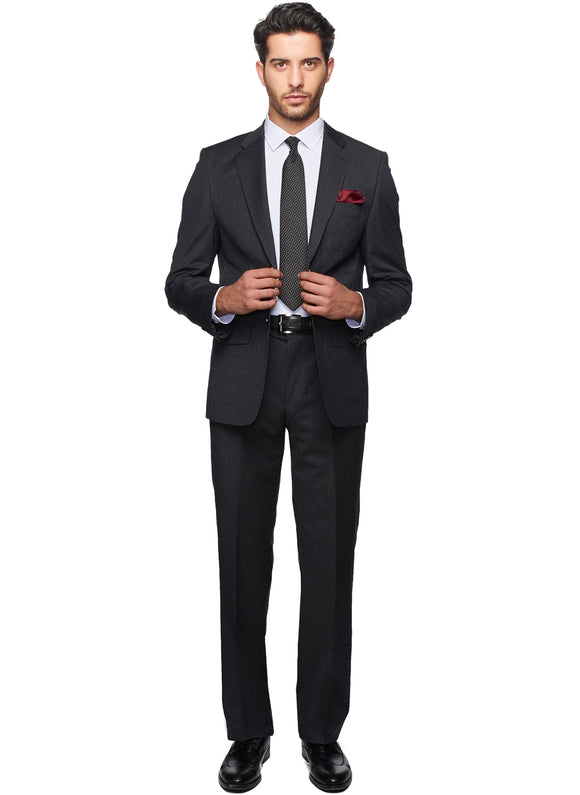 2410068 Check Grey Regular Fit Suit