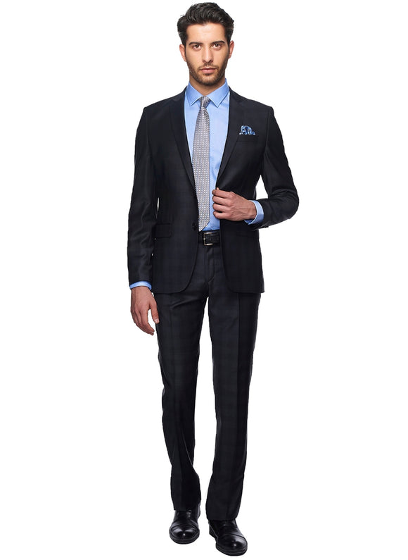2410059 Check Anthracite Slim Fit Suit
