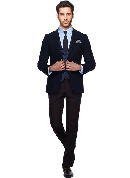 2410167 Plain Navy Combo Suit