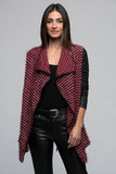 3510064 Bordeaux Shawl Quilted Sleeve Jacket