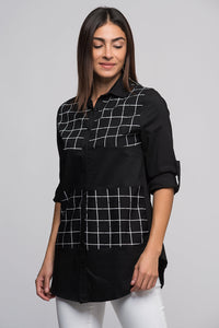 3010003 Black-White Patterned Shirt