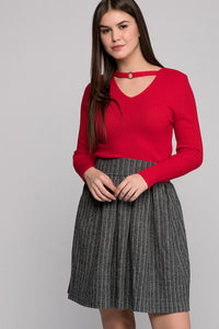 2910011 Grey Patterned Skirt