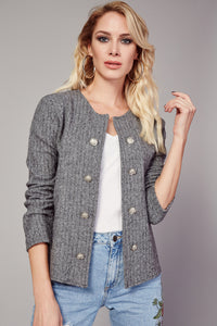 3510074 Grey Double Button Unlined Jacket