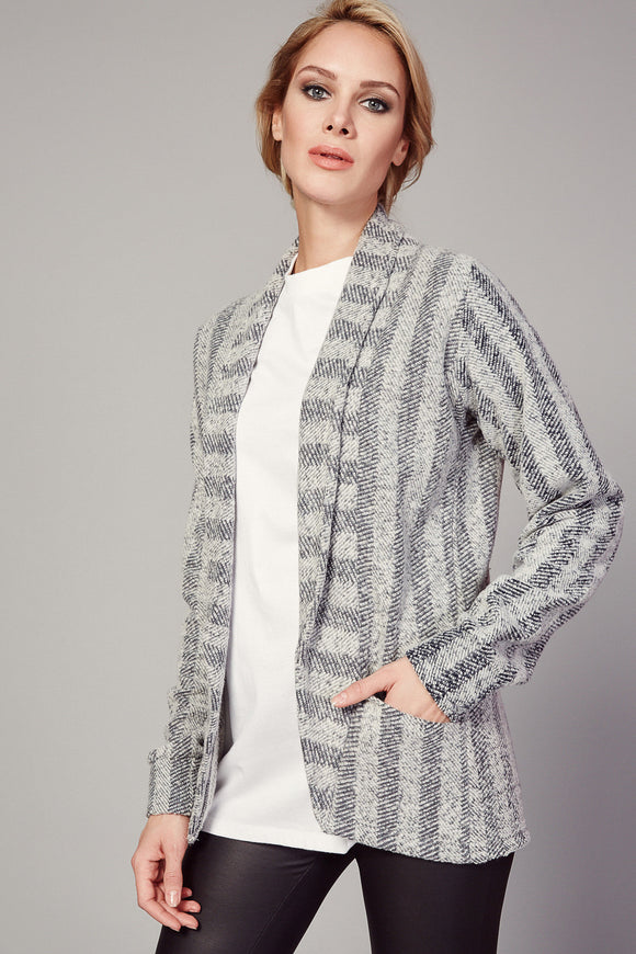 3510079 Grey Patterned Jacket