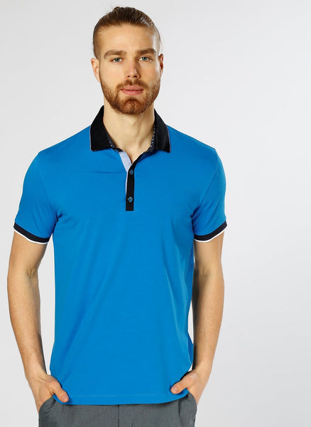 2630016 Sax Polo Neck T-Shirt For Men