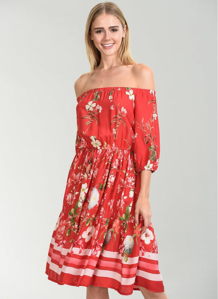 A640 Flower Patterned Dress