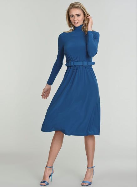 A652 Waistden Shirred Dress