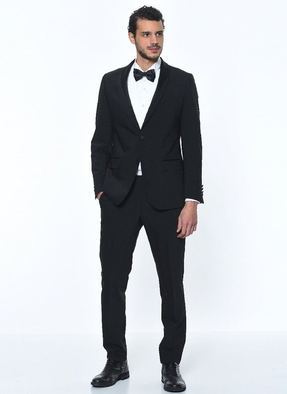 14587 Black Tuxedo Suit For Men