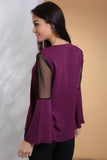 3020025 Purple Sheer Blouse