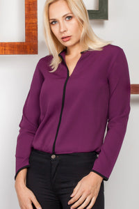 3020033 Purple Long Sleeve Blouse