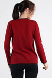 3020032 Bordeaux Long Sleeve Blouse