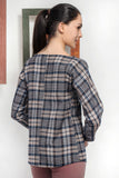 3020039 Mink Check Blouse