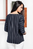 3020043 White Stripe Blouse