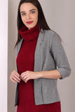 3510094 Grey Folded Sleeve Jacket