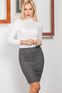 2910046 Grey Pencil Skirt
