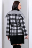 3510100 Grey Shawl Collar Jacket