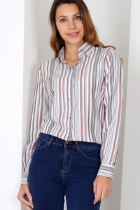 3010026 Grey Stripe Long Sleeve Shirt