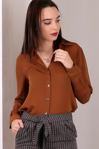 3010018 Camel Long Sleeve Shirt