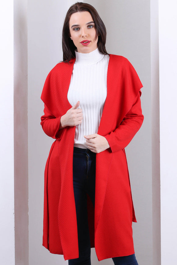 3510126 Red Hooded Unlined Jacket