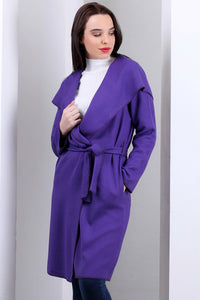 3510127 Purple Hooded Unlined Jacket