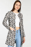 3510154 Mink Geometric Pattern Jacket