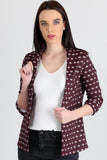 3510166 Bordeaux Folded Sleeve Jacket