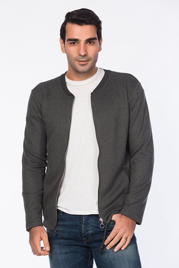 5112142 Anthracite Zip Sweater