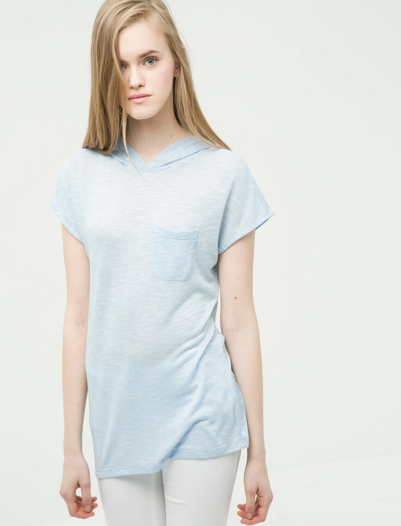 Hooded T-Shirt Blue