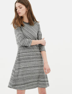 1212051 Grey Patterned Shift Dress