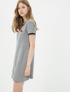 1212054 Grey T-Shirt Dress